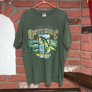 Gildan American Outdoors Fishing T-Shirt Tee